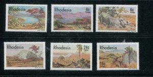 Rhodesia MNH 281-6 Scenic Landscapes
