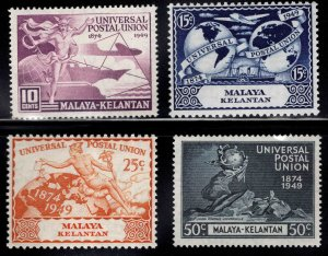 MALAYA Kelantan Scott 46-49 MH* 1949 UPU set