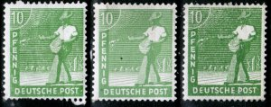 Germany Allied Occupation Mi 946 abc **