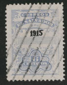 El Salvador Scott 417 Used opt from 1915 set