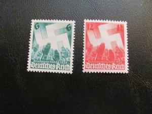 GERMANY 1936 MNH SC# 479-80 SWASTICA  SET $15 (113)