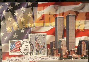 HNLP Hideaki Nakano B-2 3547 Day of Remembrance 9-11-01 Post Card
