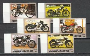 Guinea Bissau, 2005 issue. Motorcycles, IMPERF issue.