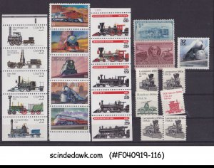 UNITED STATES - SELECTED STAMPS OF RAILWAY LOCOMOTIVES 24V MNH