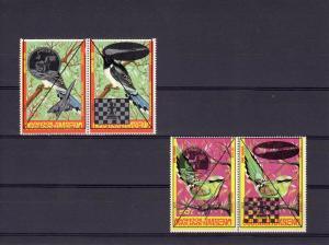 Birds-Apollo 11-Chess-Halley'Comet set(4) MNH Timor Occussi-Ambeno