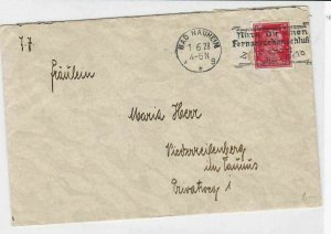 germany 1928  slogan cancel  stamps cover ref r13513