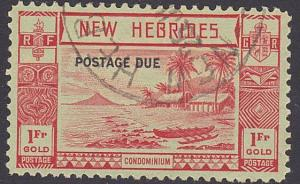 NEW HEBRIDES 1938 Postage due 1f SG D10 fine used...........................3452