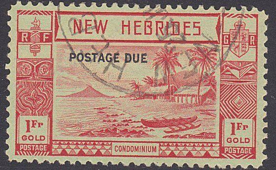 NEW HEBRIDES 1938 Postage due 1f SG D10 fine used...........................3452