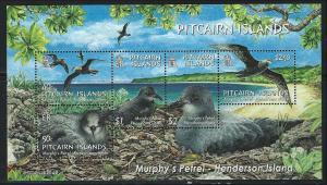 Pitcairn Islands SC608a Souv.Sht. Murphy'sPetral-Birds In Flight&Nesting MNH 200