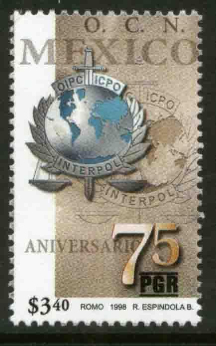 MEXICO 2094, Interpol, 75th Anniversary. MINT, NH. VF. (69)