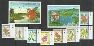 U1149 ANTIGUA & BARBUDA NATURE FLORA FLOWERS #1743-50 MICHEL 28 EURO SET+2BL FIX