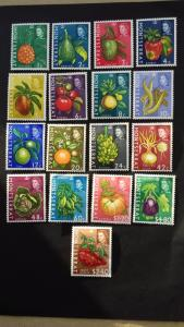 Montserrat 1965 Fruit & Vegetables with Portrait of Queen Elizabeth II MLH