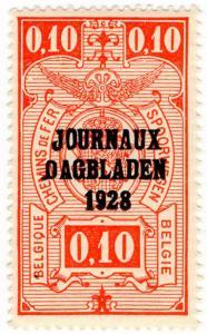 (I.B) Belgium Railways : Newspaper Parcel 10c (Journaux Dagbladen)