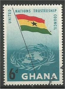 GHANA, 1959, used 6p, United Nations, Scott 68