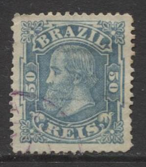 Brazil - Scott 79 -  Dom Pedro -1881- Small Heads - Used- Single 50r Stamp