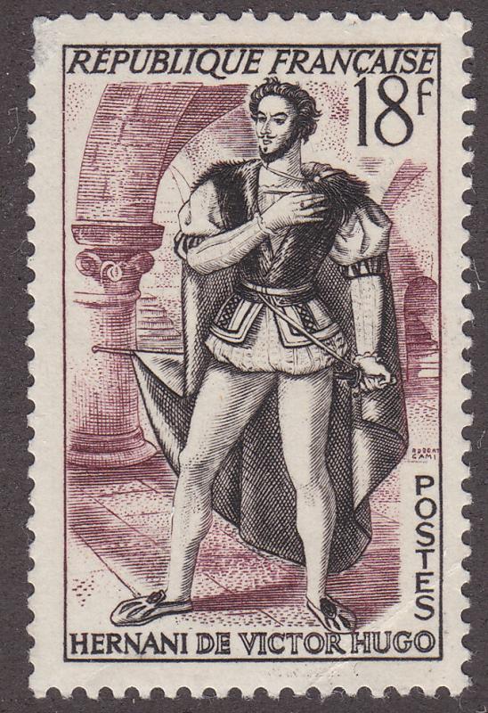 France 691 Hernani of Victor Hugo 1953