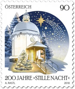 """Stamps Austria 2018 - Christmas 2018 – 200 years of """"Silent Night"""""""