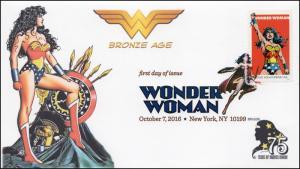 2016, Wonder Woman, Bronze Age, Digital Color Postmark, NY NY, 16-282