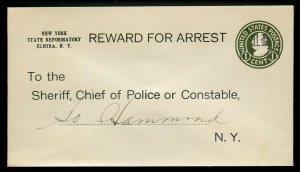 U.S. Scott U515c Unused Entire with Pre-Printed REWARD FOR ARREST Notice