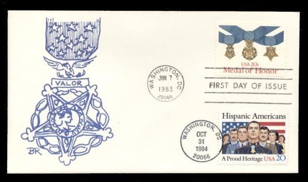 Medal of Honor #2045 & #2103 Dual FDC