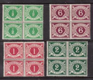 Ireland #J1 - #J4 Mint Block Set