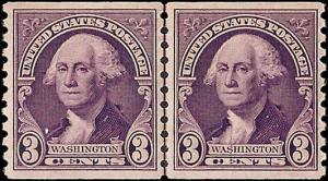 721 Mint,OG,NH... Line Pair... SCV $13.00