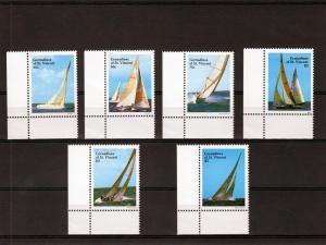 St.Vincent Grenadines 1988 America's Cup Yachts Set (6v) + 1 Souvenir Sheet MNH