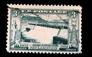 1009 Grand Coulee Dam, circulated single, Vic's Stamp Stash