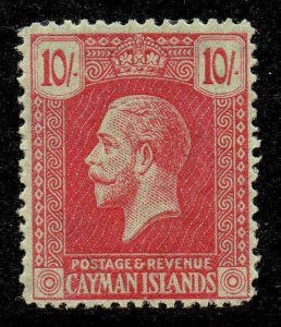 Cayman Islands 1921 KGV 10/- wmk MSCA SG 83 EXTREMELY lightly mounted mint