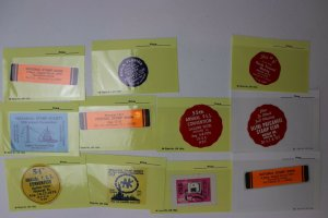 PSS Precancel Philatelic Society PRECANEX club expo label collection lot 1970s