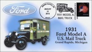2015, 1931 Ford Model A Mail Truck, Grand Rapids MI, Pictorial, APS show, 15-333