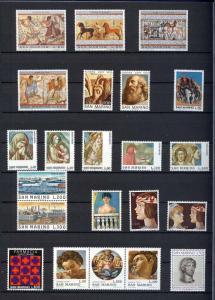 1975 - SAN MARINO - Complete year set - Scott #853 and others - MNH**