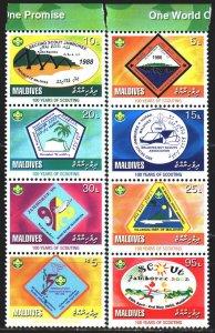 Maldives. 2008. 4646-53. Scouts. MNH.