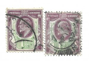 #129 x2 Britain - CAT $45.00 - Stamp