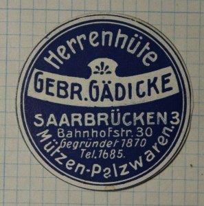 HerrenHuite Gebr Gadicke Men's German Brand Poster Stamps Ads