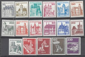 COLLECTION LOT # 1974 GERMANY 17 MNH STAMPS 1977+ CV+$24