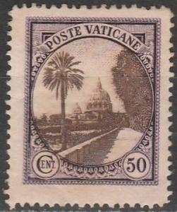 Vatican City #25  F-VF Unused  (S9777)