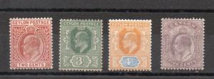 Ceylon 166-169 MH