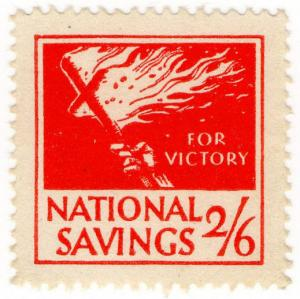 (I.B) Cinderella Collection : National Savings - Flaming Cross 2/6d
