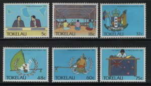 Tokelau  151-156 (6) SET, HINGED, 1989 Political development
