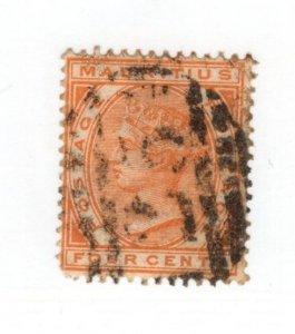 Mauritius #71 Used - CAT VALUE $5.25