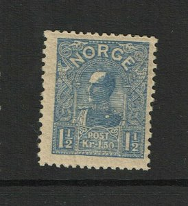 Norway SC# 65, Mint Hinged, Hinge Remnant, gum creasing, see notes - S9382