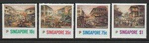 1989 Singapore -Sc 541-44 - 4 singles - MNH VF - Old Chinatown