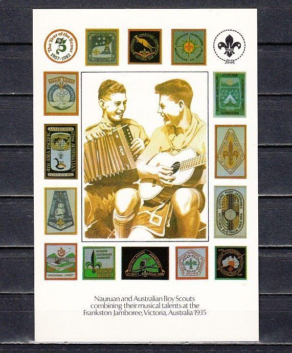 Nauru,1982 Agency issue. 75th Anniversary of Scouting Post Card