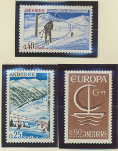 Andorra (French) Stamp Scott #169//201, Mint, 18 Issues From 1966 To 1970 - F...
