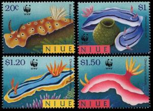 Niue WWF Nudibranchs 4v SG#858-861 MI#922-925 SC#729-732 SALE BELOW FACE VALUE