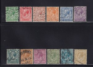 GB Scott # 187 - 200 Set VF used neat cancels nice color cv $ 73 ! see pic !