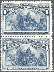 230 Mint,OG,NH... Pair... SCV $65.00