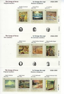 CANADA SCOTT #1559-1561 1995 GROUP OF 7 COMPLETE PACKAGE