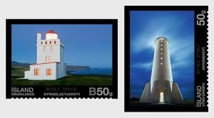 2014   ICELAND  -  SG: 1433/34 - LIGHTHOUSES (4) - UNMOUNTED MINT